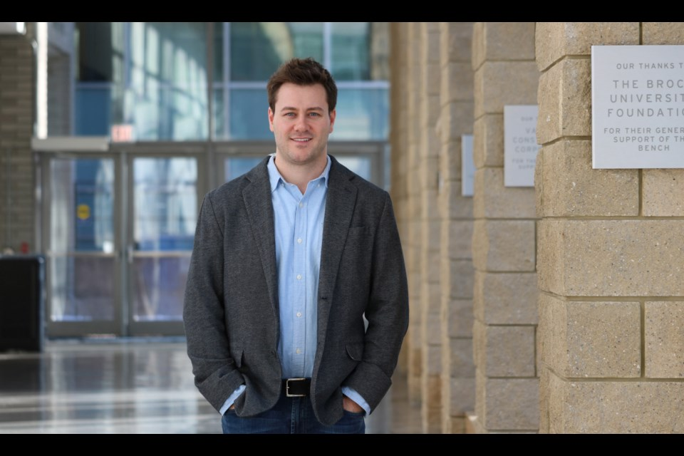 Michael Holmes, Brock University Associate Professor, Kinesiology, and Canada Research Chair in Neuromuscular Mechanics and Ergonomics.